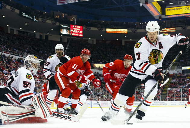 Chicago was 4-0-0 while Detroit is 0-1-3 in the season series. (USATSI)