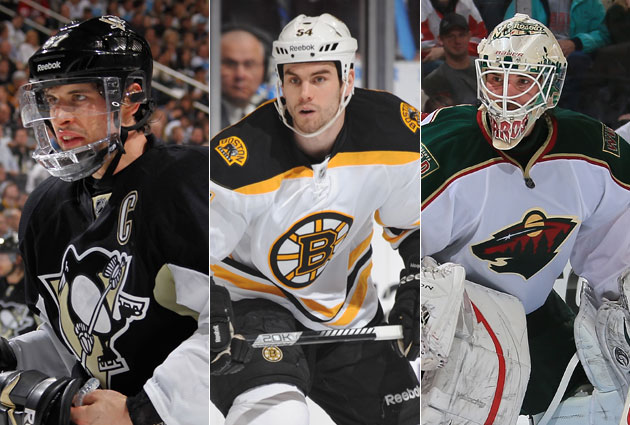 Crosby, McQuaid and Harding are the finalists for the Masterton. (Getty Images)