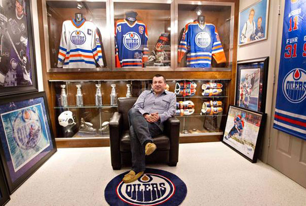 Collector Shaun Chaulk's display room. (The Canadian Press)