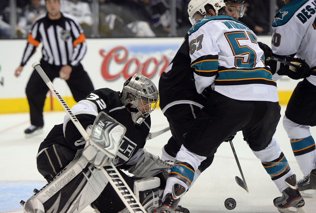 Can San Jose find a way to get it past Jonathan Quick? (USATSI)