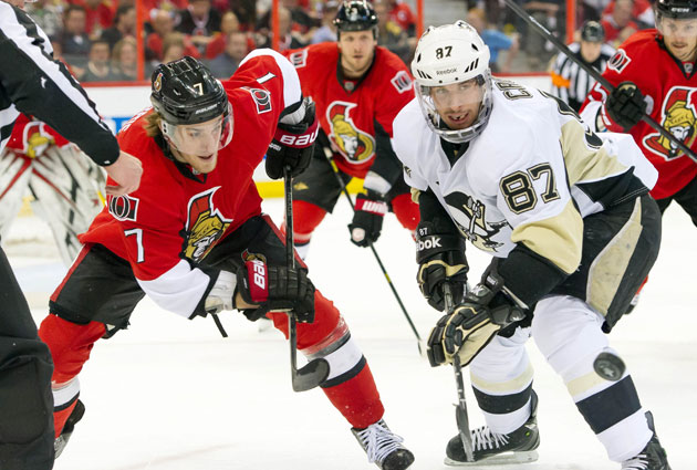 The Sens and Pens face off in Ottawa as the only game of the night. (USATSI)