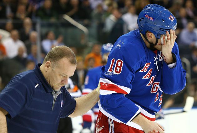 The visor debate came up again after Marc Staal's injury. (USATSI)