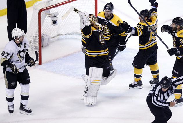 Sidney Crosby is held pointless in four games by the Final-bound Bruins. (USATSI)