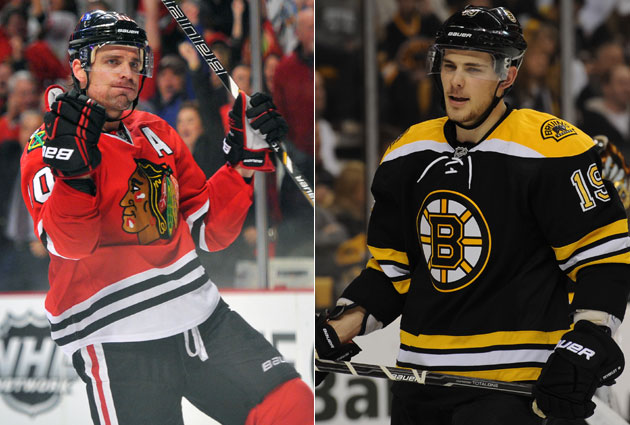Patrick Sharp and the Hawks vs. Tyler Seguin and the Bruins: Awesome. (USATSI)