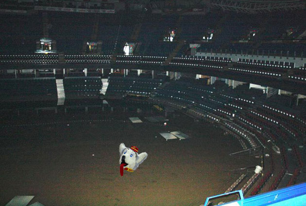 Head Of Flames Mascot Found Floating In Flooded Saddledome