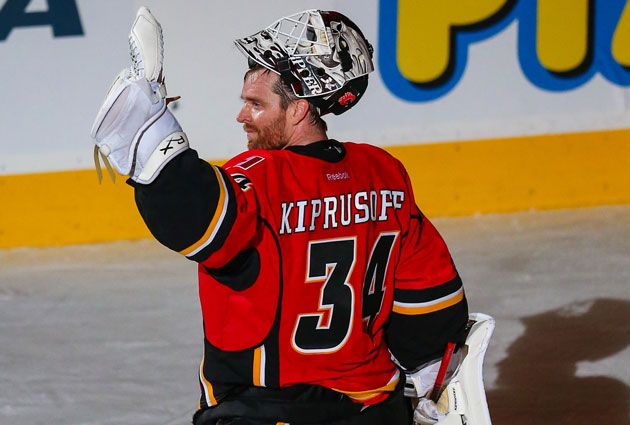 Miikka Kiprusoff had a send-off of sorts in Calgary already. (USATSI)