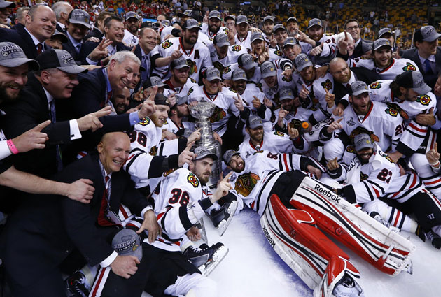 The Blackhawks just won the Cup, but they have only the second-best odds for next season. (USATSI)