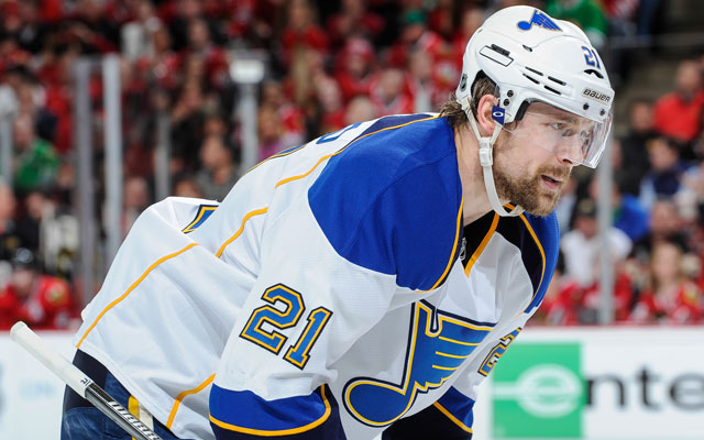 Patrik Berglund had 14 goals last season for St. Louis. (Getty Images)