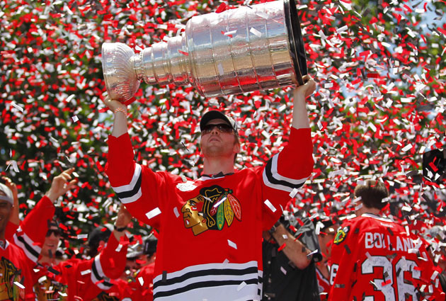 Bryan Bickell was huge in the postseason to help the Hawks to another Cup. (USATSI)