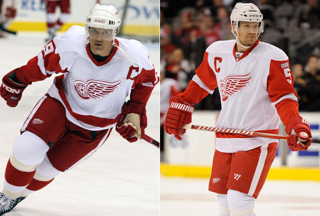 Steve Yzerman and Nicklas Lidstrom: two captains from the modern era. (USATSI)