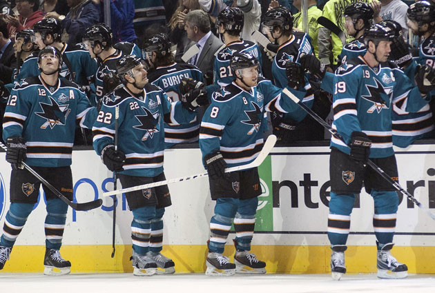 Pavelski (8) has a new deal, will Marleau, Boyle, Thornton follow in San Jose? (USATSI)