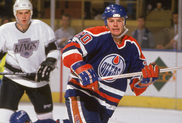 Martin Gelinas spent five seasons in Edmonton after the Gretzky deal. (Getty Images)
