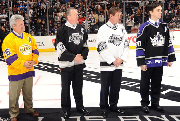 Dionne, Taylor, Gretzky and Robitaille span the greats of franchise history. (Getty Images)