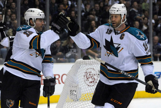 Marleau and Jumbo Joe have made quite a tandem in San Jose. (USATSI)
