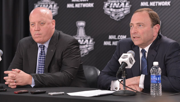 Bill Daly and Gary Bettman said at the State of the Union business was good. Indeed. (USATSI)