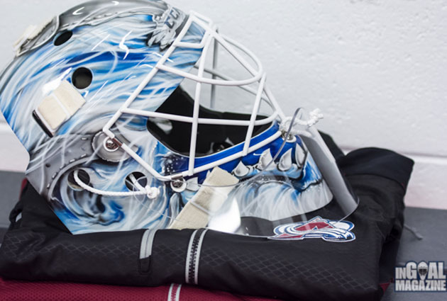 Giguere's mask resembles the head of a Yeti. (InGoal Mag)