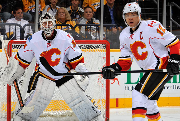 Kiprusoff and Iginla represent the more recent Calgary teams here. (Getty Images)