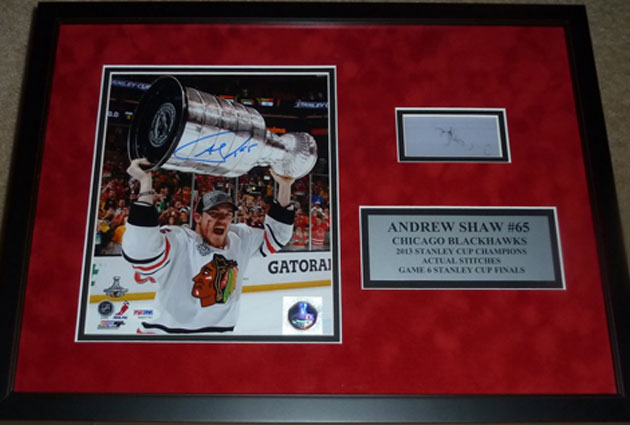 Shaw's stitches and the frame went to the highest bidder on eBay. (CSN Chicago)