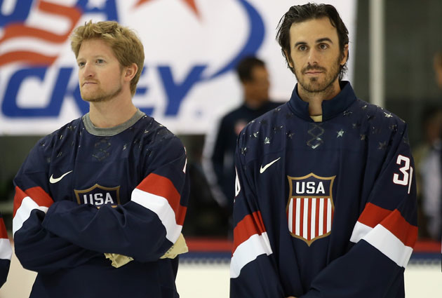 Paul Martin and Ryan Miller won't be Pens and Sabres in Sochi. (Getty Images)