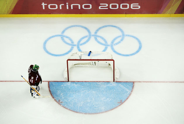 The bigger ice was in use for the 2006 Games in Torino. (Getty Images)