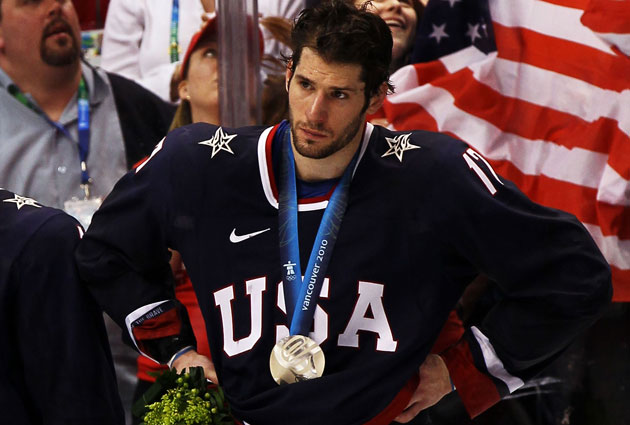 Kesler still feels the sting of losing the gold medal in 2010. (Getty Images)
