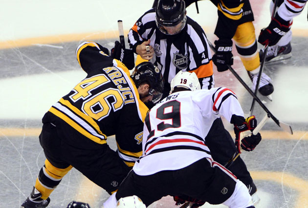 Both the B's and the Hawks are favored to win their new divisions. (USATSI)