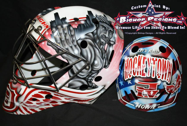 Howard's new Detroit mask for the upcoming season. (Bishop Designs)
