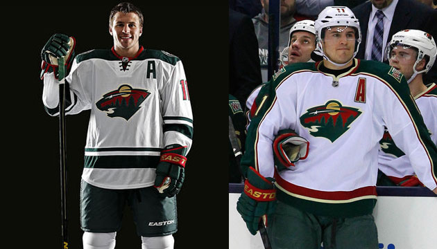 Minnesota's new road whites vs. old road whites. (Wild/USATSI)