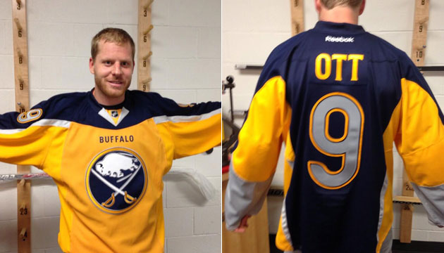 Steve Ott unveils Sabres  new third jersey and it s awful ... e4d94afabba