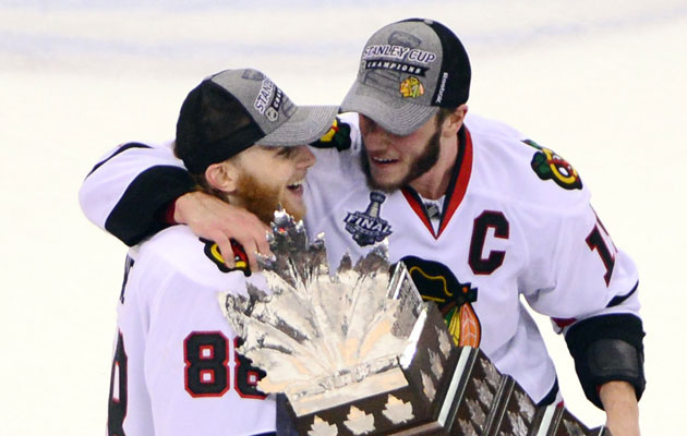 The Kane and Toews bromance will continue forever in Chicago. (USATSI)
