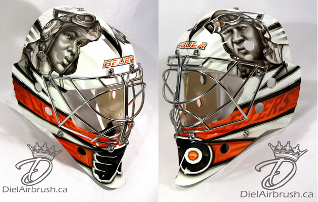 Emery's new lid in Philly keeps with the team name and honors heroes. (InGoal Mag)
