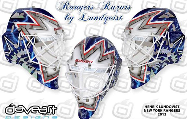 Photo Henrik Lundqvist S New Mask Keeps With Familiar Theme