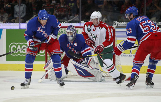 Imagine New York playing Lundqvist's old team Frolunda in games that mattered. (Getty Images)