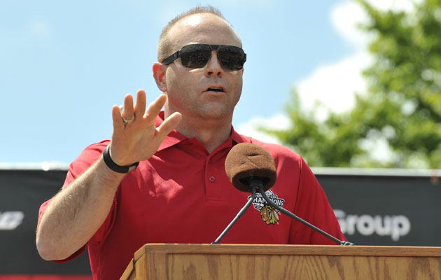 Stan Bowman will be sticking around in Chicago to try and build more Cup winners. (USATSI)