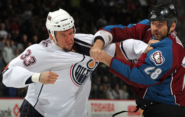 MacIntyre last played for the Oil in 2011. (Getty Images)