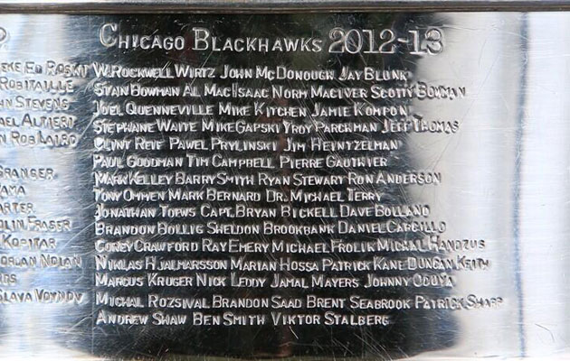 The Cup now includes the 2012-13 Hawks. (@NHLBlackhawks)