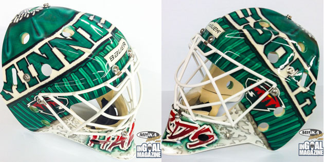 Harding's mask should keep his head nice and warm. (InGoal Mag)