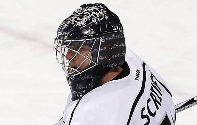 Ben Scrivens' new mask with Kings quotes William ...