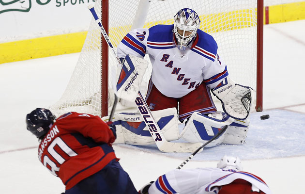Lundqvist hasn't given a goal to the Caps in the last three games. (USATSI)