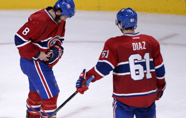Prust leaves Saturday's game after suffering an injury to his shoulder. (USATSI)