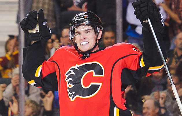 Monahan leads Calgary with six goals thus far. (Getty Images)