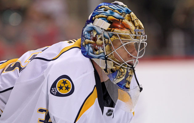 Rinne started 73 games for the Preds in the 2011-12 season. (USATSI)