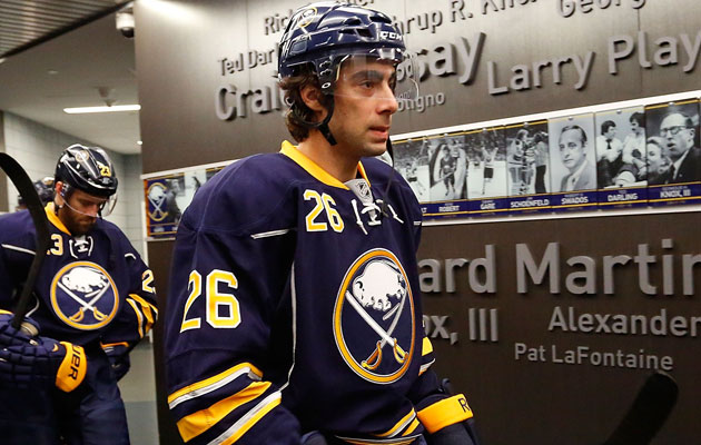 Moulson was just part of what the Isles sent to Buffalo. (Getty Images)