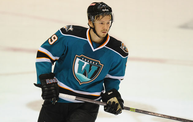 Tarasov's hat trick was Worcester's first in 264 games. (Eric Lundquist)