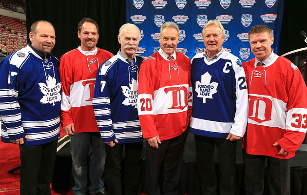 The list of legends for Toronto and Detroit are awfully long. (Getty Images)