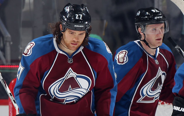 Downie and Landeskog were reportedly not seeing eye to eye. (Getty Images)