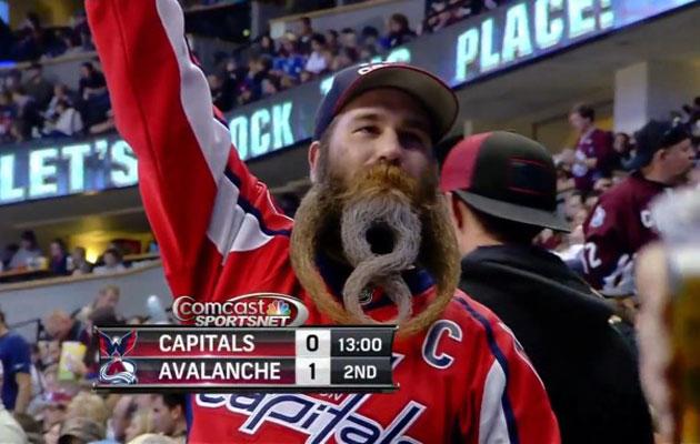 That is one impressive beard. (Screen cap via Russian Machine Never Breaks)