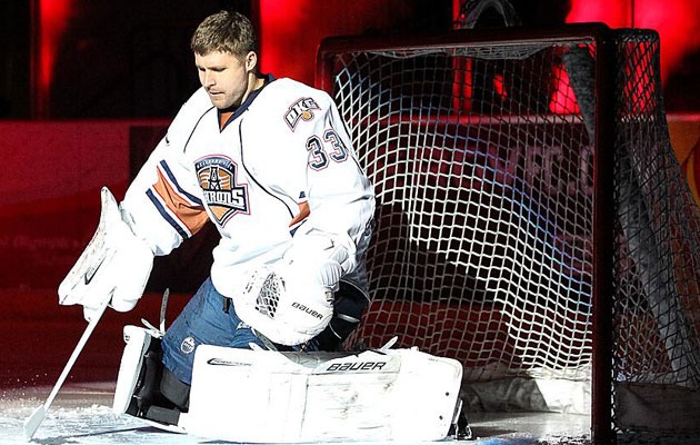 Bryzgalov stopped 44 of 50 shots he saw in two games for OKC. (@EdmontonOilers)