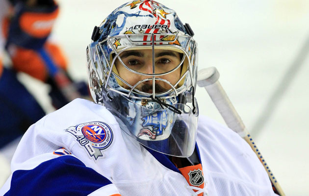 DiPietro was with the Isles until this summer when they bought his deal out. (USATSI)