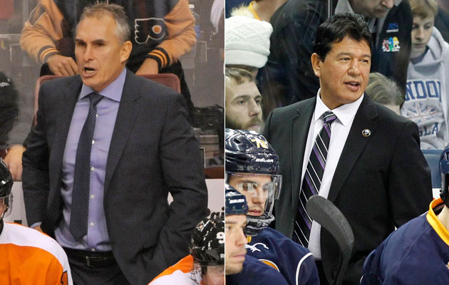 Craig Berube and Ted Nolan will be on opposing benches Thursday night. (USATSI)